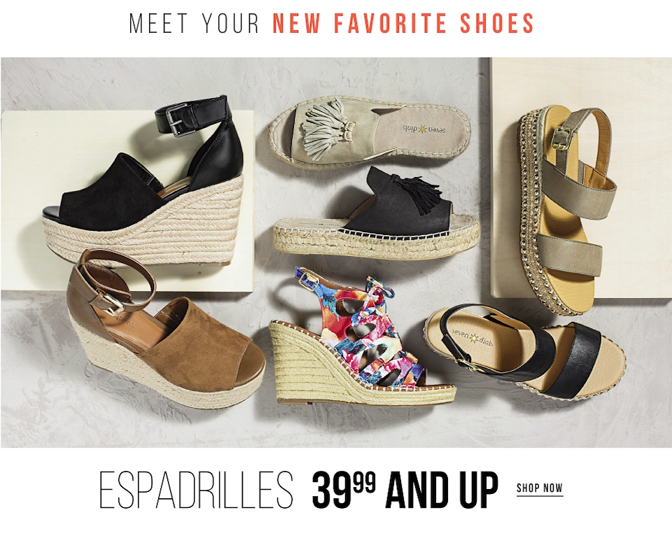 Meet Your New Favorite Shoes - Espadrilles 39.99 and Up - Shop Now