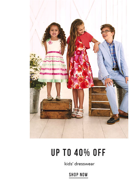 Up to 40% off Kids' Dresswear - Shop Now