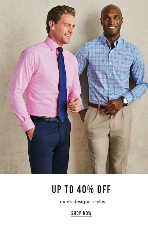 Up to 40% off Men's Designer Styles - Shop Now