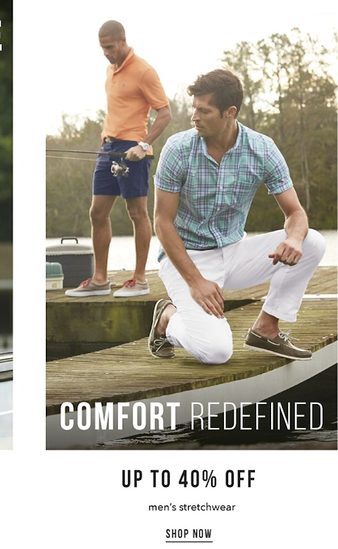 Comfort Defined - Up to 40% off Men's Stretchwear - Shop Now