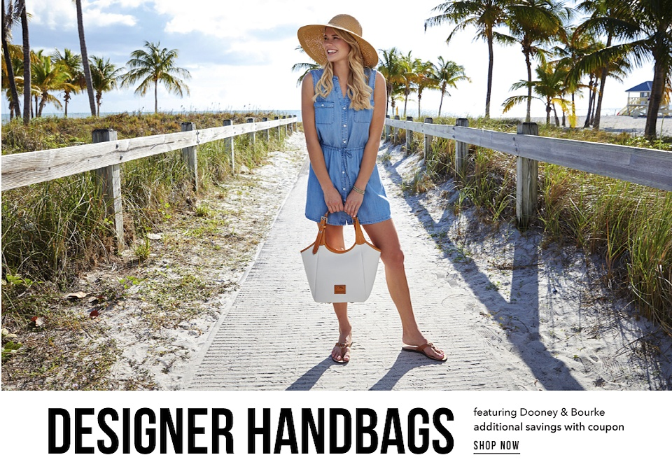 Designer Handbags featuring Dooney & Bourke Additional Savings with Coupon - Shop Now
