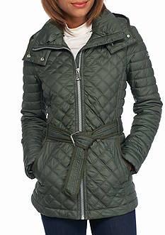 Marc New York Quilted Self Tie Jacket with Hood