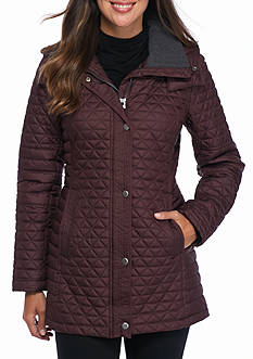 Marc New York Quilted Long Jacket with Hood