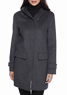 Jones New York Snap Front Wool Coat