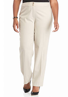 Calvin Klein Plus Size Solid Woven Dress Pants