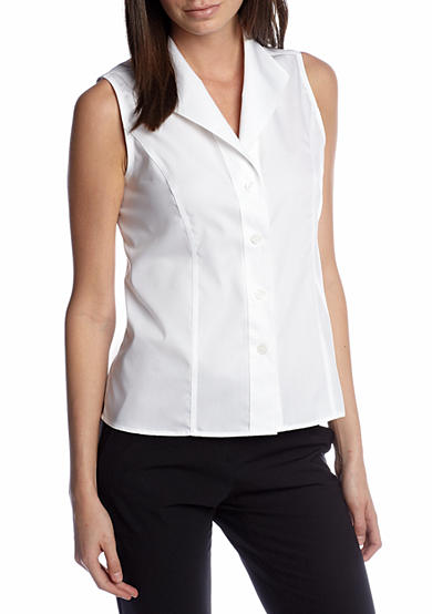 Calvin klein sleeveless wrinkle free shirt belk Wrinkle free shirts for women