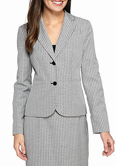 Calvin Klein Patterned Two Button Jacket