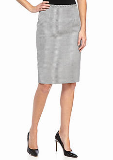 Calvin Klein Patterned Straight Skirt