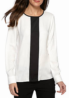 Calvin Klein Long Sleeve Button Cuff Blouse
