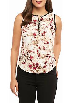 Calvin Klein Print Sleeveless Blouse