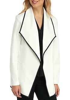 Calvin Klein Ponte Knit Flyaway Jacket