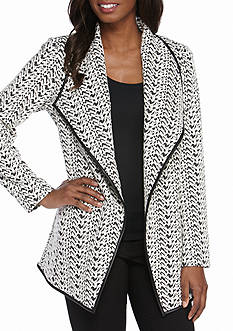 Calvin Klein Textured Ponte Knit Jacket