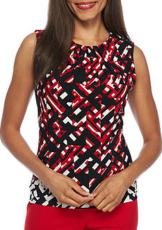 Calvin Klein Print Jersey Knit Top