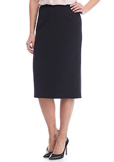 Calvin Klein Crepe Long Straight Skirt