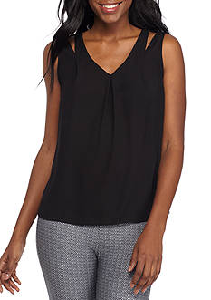 Calvin Klein Cut Out Shoulder Solid Cami