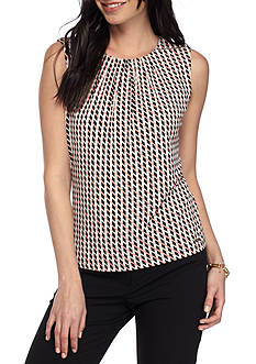 Calvin Klein Geometric Print Pleated Neck Cami