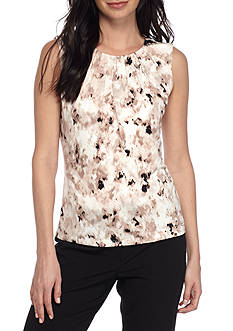 Calvin Klein Scatter Print Pleated Neck Cami