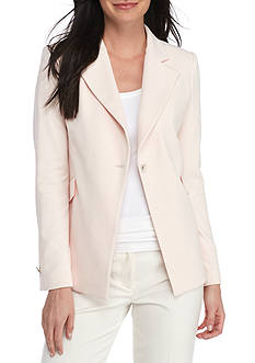 Calvin Klein Crepe One-Button Jacket