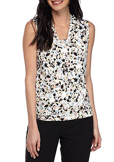 Calvin Klein Multi Printed Knotted Neck Cami