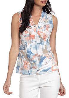 Calvin Klein Floral Printed Knotted Neck Cami