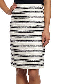 Calvin Klein Stripe Straight Skirt