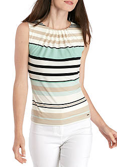 Calvin Klein Pleated Neck Stripe Cami