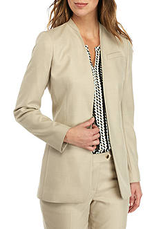 Calvin Klein Printed Elongated Open Front Jacket