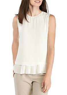 Calvin Klein Double Layer Pleated Hem Cami