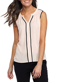 Calvin Klein Piped Woven Blouse