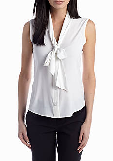 Calvin Klein Tie Neck Blouse