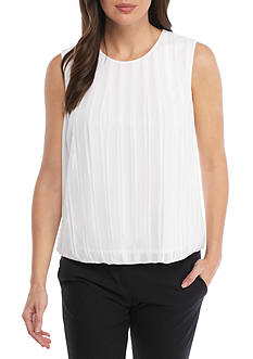 Calvin Klein Solid Pleated Bubble Cami