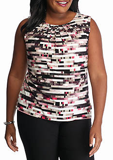 Calvin Klein Plus Size Print Sleeveless Top