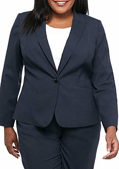 Calvin Klein Plus Size One Button Jacket