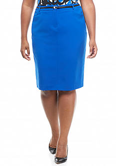 Calvin Klein Plus Size Straight Skirt