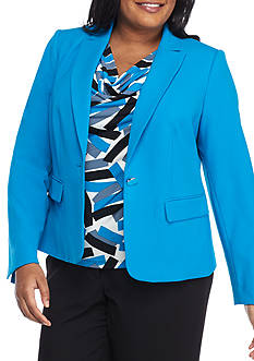 Calvin Klein Plus Size Notch Collar Jacket