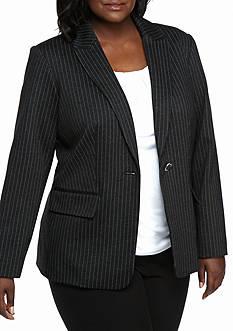 Calvin Klein Plus Size Pinstripe Jacket