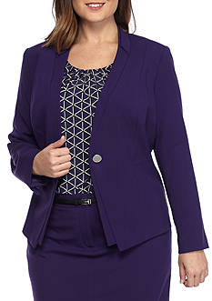 Calvin Klein Plus Size Single Button Jacket