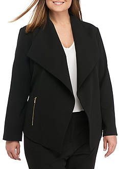 Calvin Klein Plus Size Scuba Flyaway Jacket