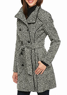 GUESS Waterproof Tweed Walker Coat