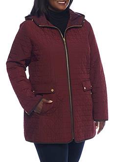 Jones New York Plus Hooded Coat