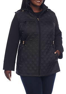 Jones New York Plus Size Black Zip Up Jacket