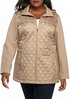 Jones New York Plus Size Black Zip Up Jacket
