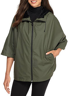 Bernardo Bill-Hooded Cape Rain Jacket