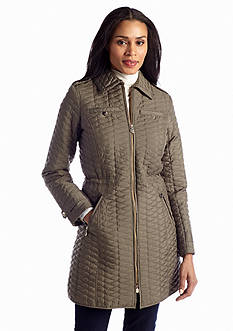 aB Mini Quilted Zip Front Jacket