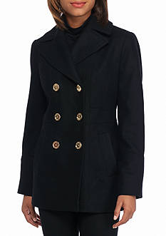 MICHAEL Michael Kors Peacoat with Notch Collar