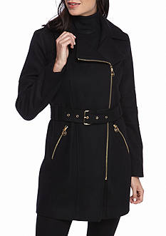 MICHAEL Michael Kors Asymmetrical Zip Notch Collar Jacket