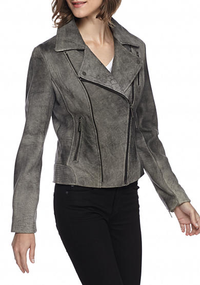 MICHAEL Michael Kors Gray Asymmetrical Notch Collar Jacket
