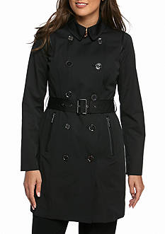 Michael by Michael Kors Notch Collar Belted Trench