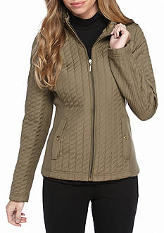 Weatherproof Petite Quilted Poly Jacket