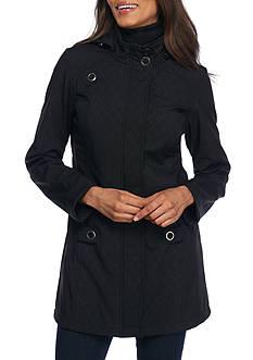 WEATHERPROOF Hooded Soft-Shell Jacket